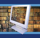Computer Screen and Library