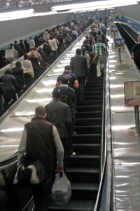 Parliament Station Escalator