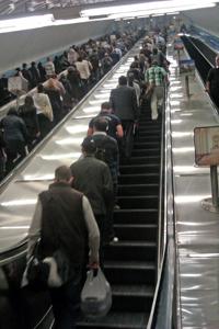 Parliament Station Escalator